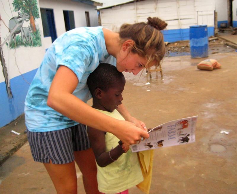 Volontaire sur une mission humanitaire à Accra
