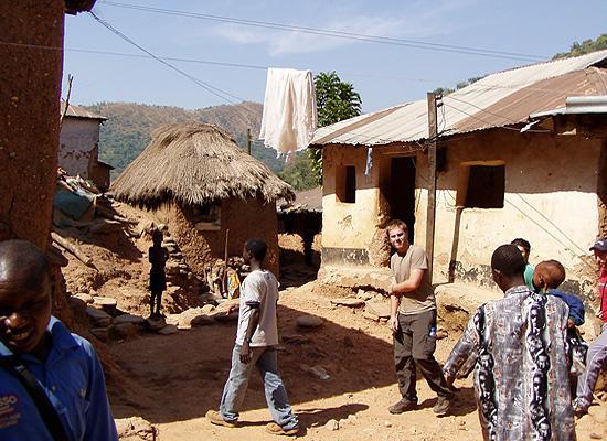 Volunteer in one of villages