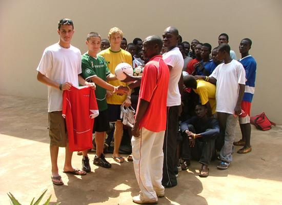 Volunteers and locals