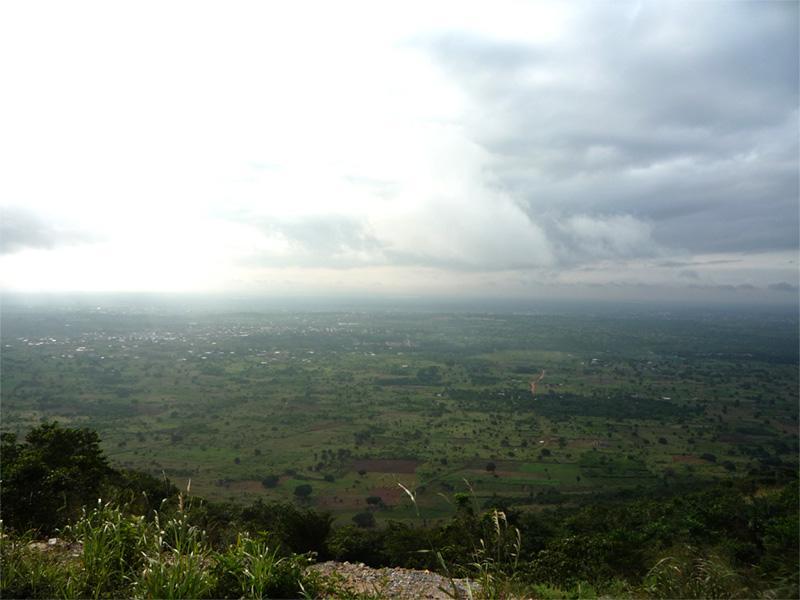 Vu du paysage des Hills, au Ghana