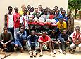 Football coaching team photo