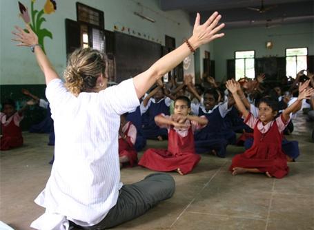 Volontaire sur une mission humanitaire en Inde