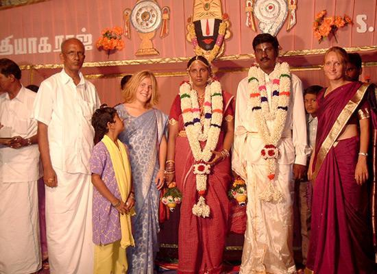 At wedding