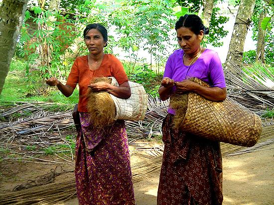 Coir ladies at work