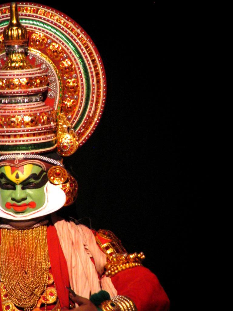 Dance traditionnelle dans le Kerala, en Inde
