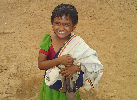 Girl at Madurai Seva Ashram