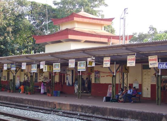Local people on a train station