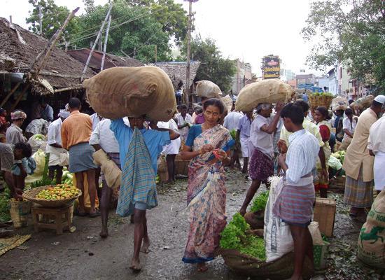 Locals in a market