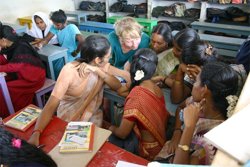 Volontaire sur une mission d'enseignement en Inde