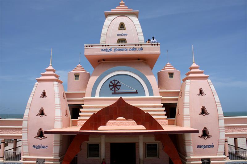 Monument commémoratif en hommage à Ghandi en Inde