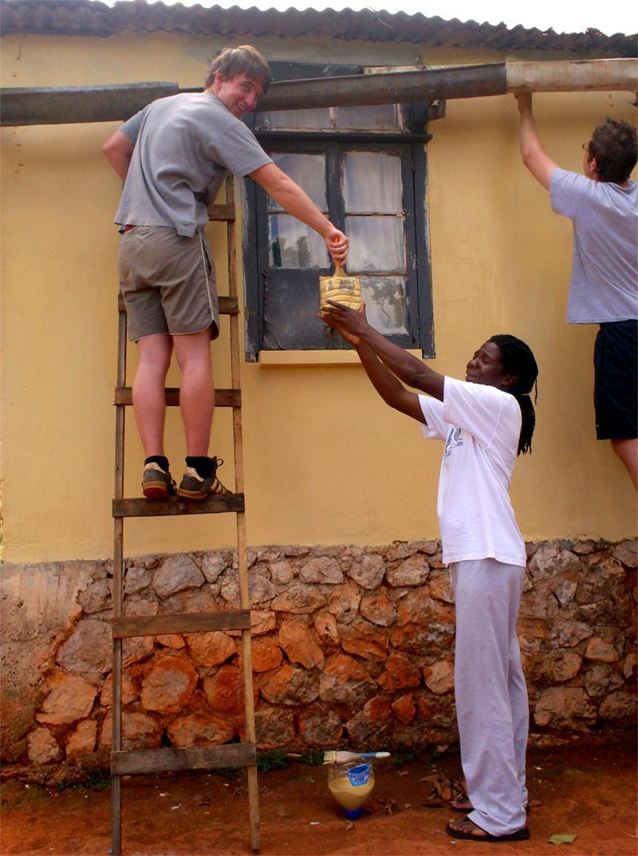Journée peinture lors d'une fin de semaine en Jamaïque