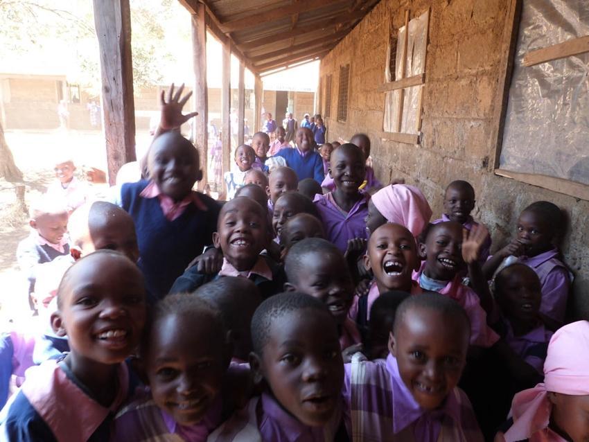 Élèves dans une école au Kenya