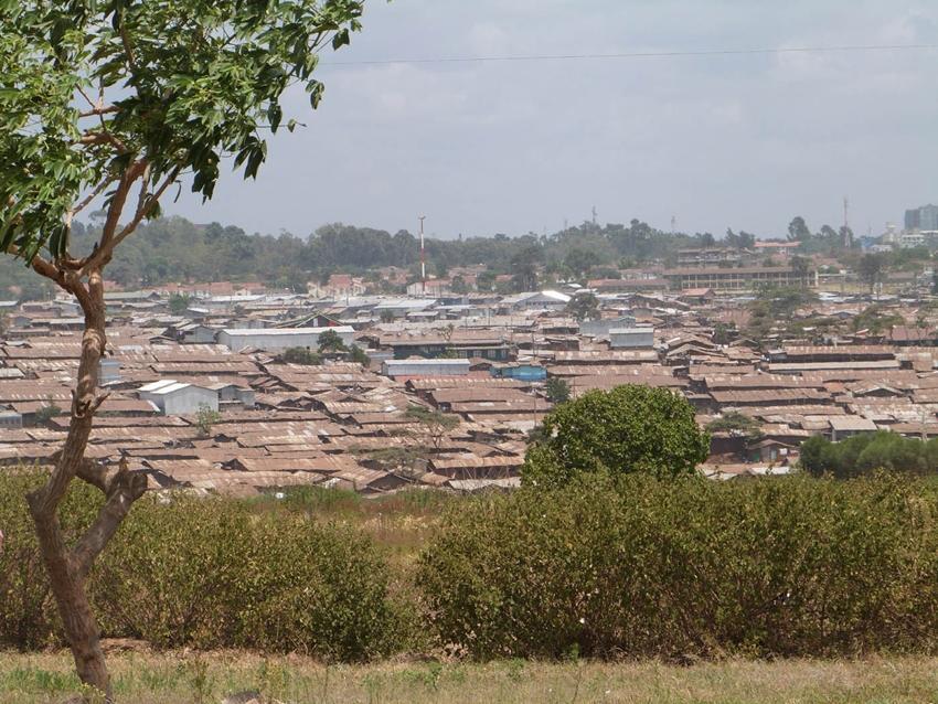 Paysage, ville locale au Kenya