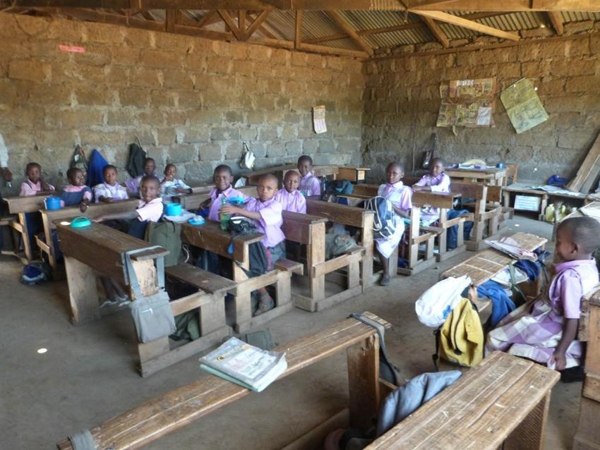 Salle de classe au Kenya
