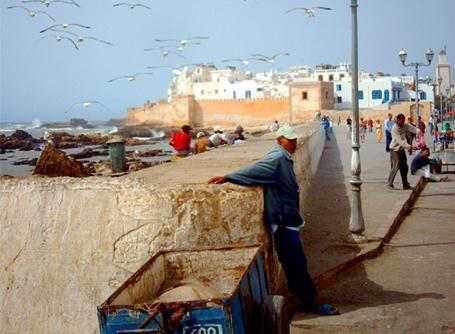 Vue de la côte à Rabat, au Maroc