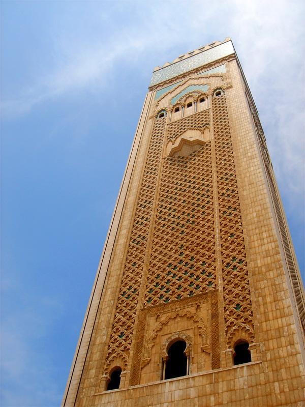 Minaret à Rabat, au Maroc