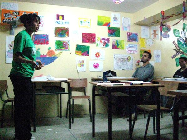 Salle de classe à Sale, au Maroc