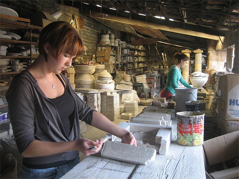 Atelier d'artisanat au Mexique