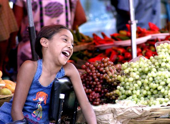 Kid at the market