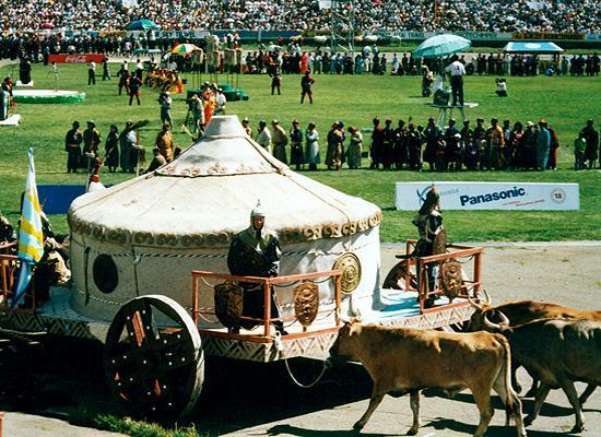 A mongolian parade