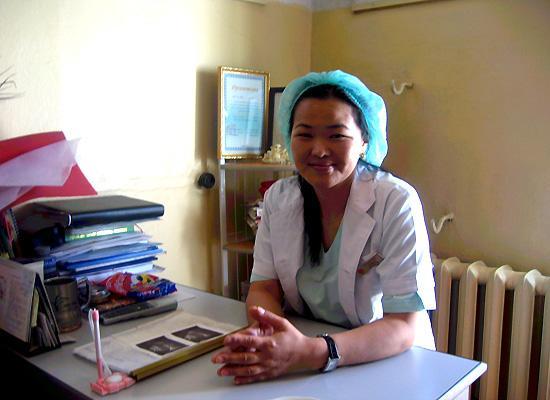 Doctor in hospital at desk