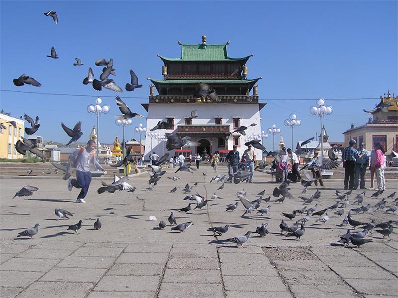 Grand monastère en Mongolie