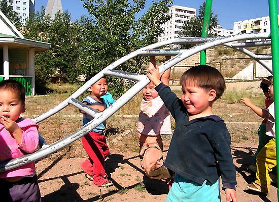 Happy orphanage kids
