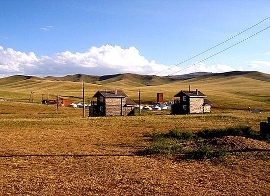 Hustai homes in Mongolia