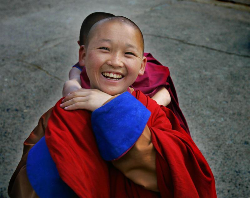 Jeune monk en Mongolie