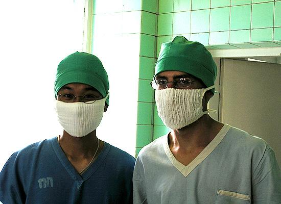 Kelvin and john at hospital