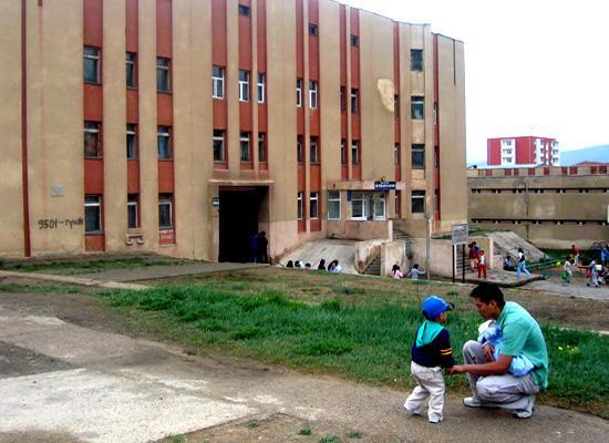 Outside medical building