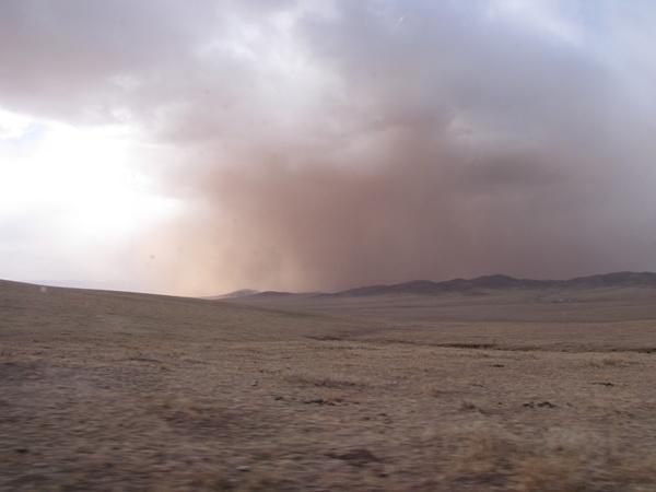 Paysage des montagnes en Mongolie