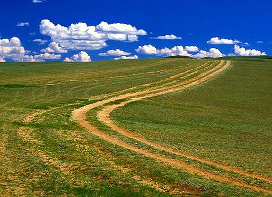 Road to mongolian village