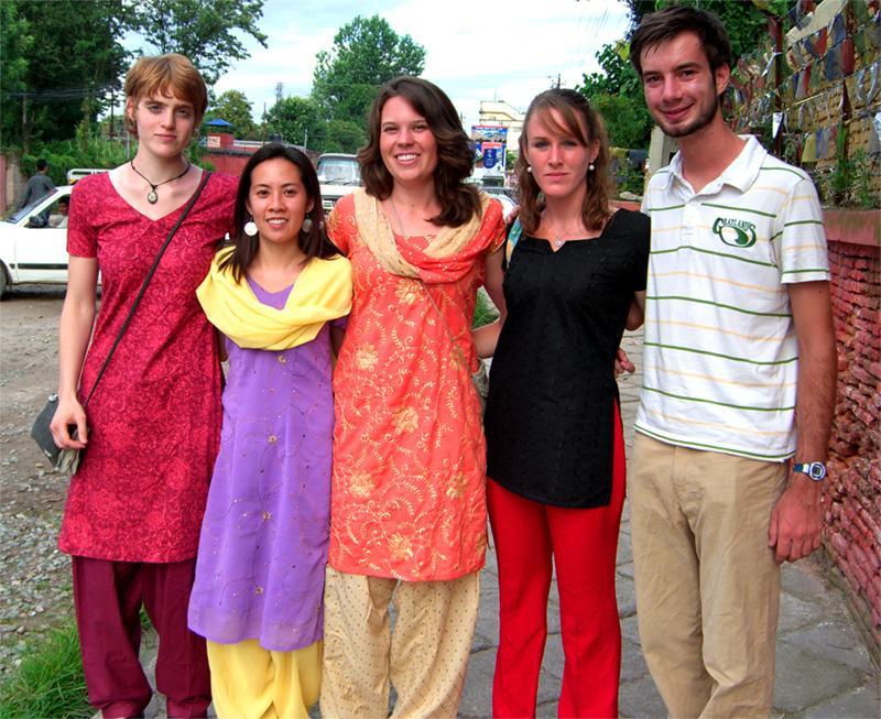 Groupe de volontaires au Népal