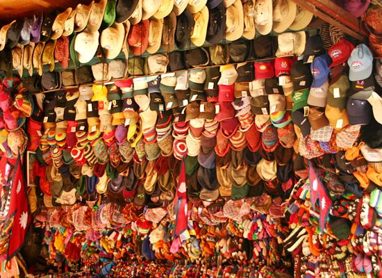 Hats on street of Thamel