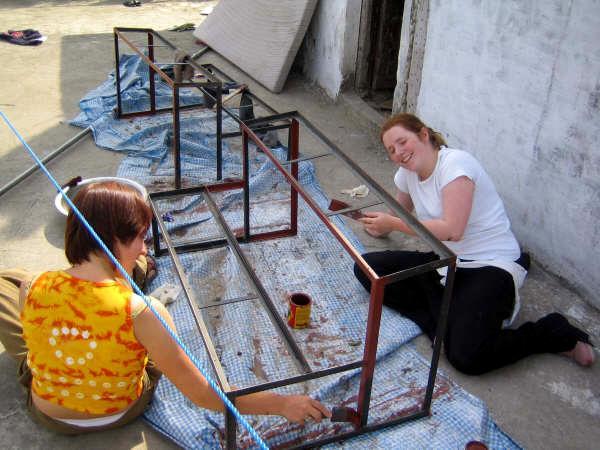 Journée peinture pour les volontaires au Népal