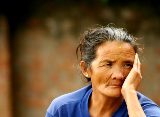 Nepal old lady