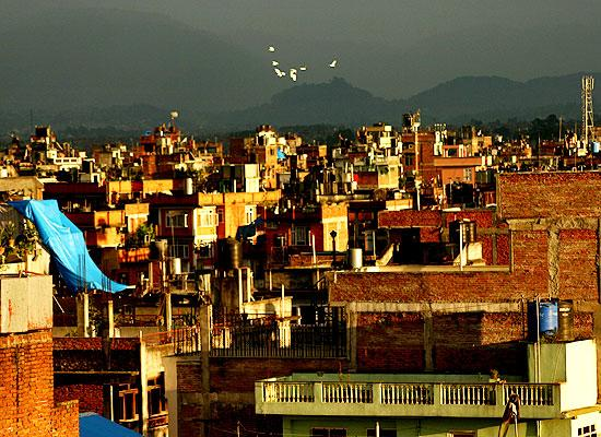 Roof top views Nepal
