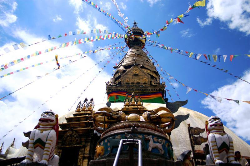 Temple à Katmandou au Népal
