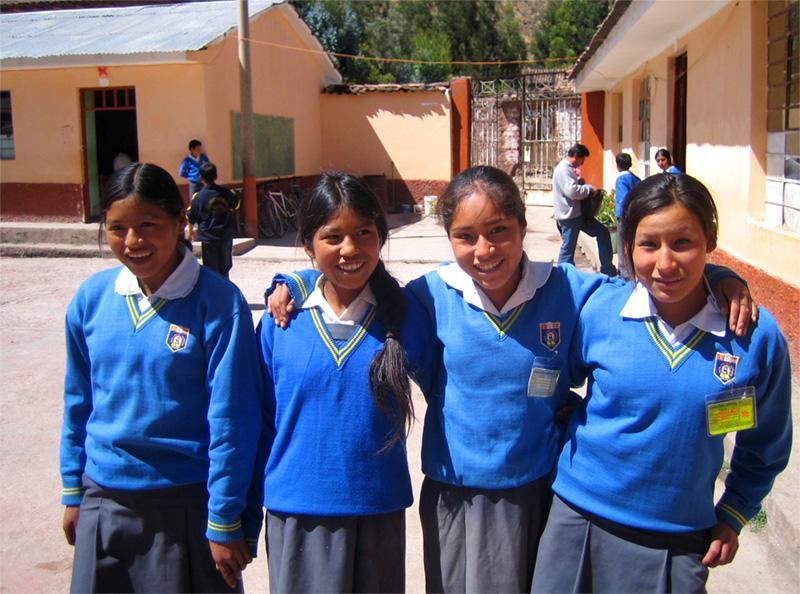 Groupe d'étudiants au Pérou