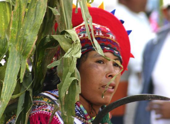 Local person at festival