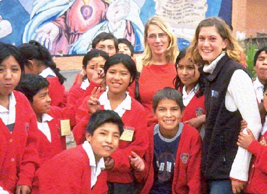 Pupils with teachers