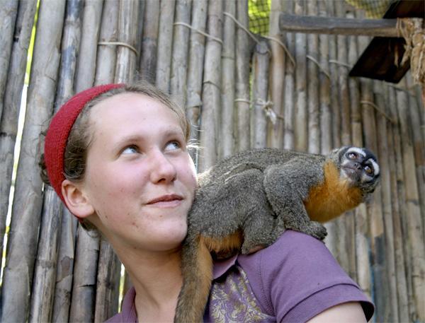 Volontaire sur la réserve de Taricaya, sur la mission d'écovolontariat au Pérou