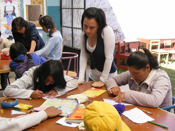 Volontaire sur une mission humanitaire au Pérou