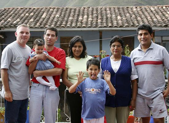 Volunteer and host family