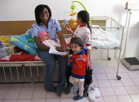 Volontaire sur une mission humanitaire en Roumanie
