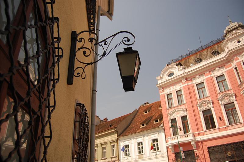 Centre-ville de Brasov en Roumanie
