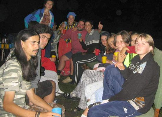 Evening in an Archaology camp