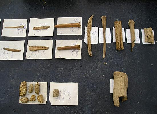 Materials from the digging neolithic tools