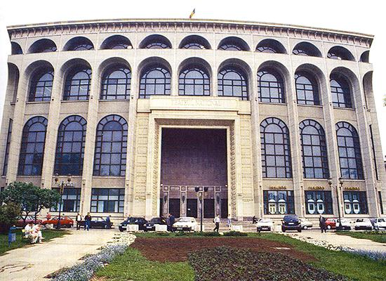 National theatre on Bucharest